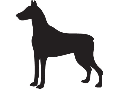 Brindley and Sons (Sheffield) Ltd. Doberman Silhouette