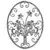 Oval-Shaped Floral Panels