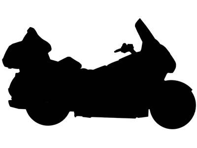 Harley Davidson Motorcycle Sillhouette